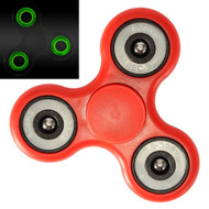 Glow In The Dark Fidget Finger Spinner Hand Spinning Toy - Red