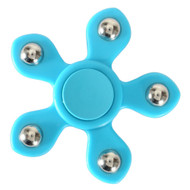 5 Point Steel Ball Fidget Finger Spinner Hand Spinning Toy - Baby Blue