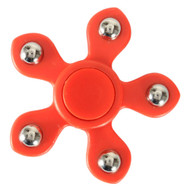 5 Point Steel Ball Fidget Finger Spinner Hand Spinning Toy - Red