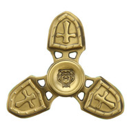 Cross Crusader Fidget Finger Spinner Hand Spinning Toy - Bronze