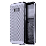 Perforated Electroplated Ultra Slim Protective TPU Case for Samsung Galaxy S8 Plus - Black
