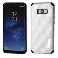 *Sale* Rugged Weave Multi-Layer Hybrid Case for Samsung Galaxy S8 Plus - Silver