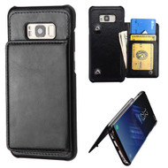 Pocket Wallet Case with Stand for Samsung Galaxy S8 Plus - Black