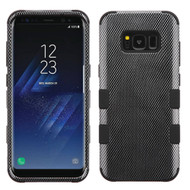 Military Grade Certified TUFF Image Hybrid Armor Case for Samsung Galaxy S8 Plus - Carbon Fiber