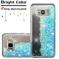 Quicksand Glitter Transparent Case for Samsung Galaxy S8 Plus - Blue