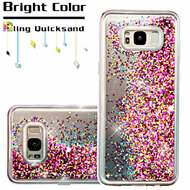 Quicksand Glitter Transparent Case for Samsung Galaxy S8 Plus - Hot Pink