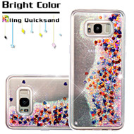 Quicksand Glitter Transparent Case for Samsung Galaxy S8 Plus - Magenta