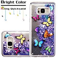 Quicksand Glitter Transparent Case for Samsung Galaxy S8 Plus - Butterfly Dancing