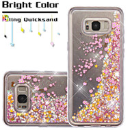 Quicksand Glitter Transparent Case for Samsung Galaxy S8 Plus - Falling Sakura
