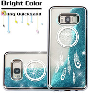 *Sale* Electroplating Quicksand Glitter Transparent Case for Samsung Galaxy S8 Plus - Dreamcatcher Silver