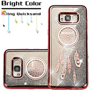 Electroplating Quicksand Glitter Transparent Case for Samsung Galaxy S8 Plus - Dreamcatcher Rose Gold