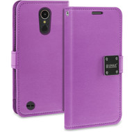 *SALE* Essential Leather Wallet Case for LG K20 Plus / K20 V / K10 (2017) / Harmony - Purple