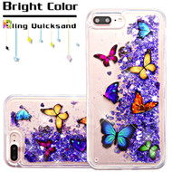 Quicksand Glitter Transparent Case for iPhone 8 Plus / 7 Plus - Butterfly Dancing