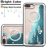 *SALE* Electroplating Quicksand Glitter Transparent Case for iPhone 8 Plus / 7 Plus - Dreamcatcher Silver