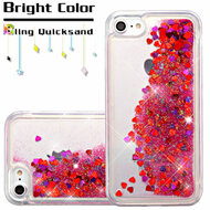 *SALE* Quicksand Glitter Transparent Case for iPhone 7 - Red