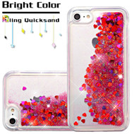 *Sale* Quicksand Glitter Transparent Case for iPhone 8 / 7 - Red