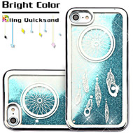 Electroplating Quicksand Glitter Transparent Case for iPhone 8 / 7 - Dreamcatcher Silver