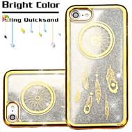 *Sale* Electroplating Quicksand Glitter Transparent Case for iPhone 8 / 7 - Dreamcatcher Gold