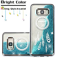 *Sale* Electroplating Quicksand Glitter Transparent Case for Samsung Galaxy S8 - Dreamcatcher Silver