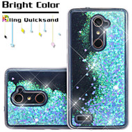 Quicksand Glitter Transparent Case for ZTE Zmax Pro - Blue