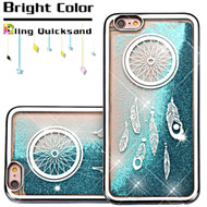 Electroplating Quicksand Glitter Transparent Case for iPhone 6 Plus / 6S Plus - Dreamcatcher Silver