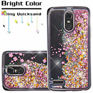 Quicksand Glitter Transparent Case for LG Stylo 3 / Stylo 3 Plus - Falling Sakura