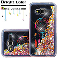 Quicksand Glitter Transparent Case for Samsung Galaxy Amp Prime / Express Prime / J3 / Sol - Dreamcatcher