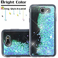 Quicksand Glitter Transparent Case for Samsung Galaxy J7 (2017) / J7 V / J7 Perx - Blue