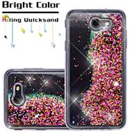 Quicksand Glitter Transparent Case for Samsung Galaxy J7 (2017) / J7 V / J7 Perx - Hot Pink