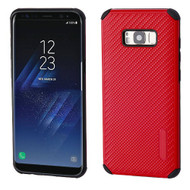 Rugged Weave Multi-Layer Hybrid Case for Samsung Galaxy S8 - Red