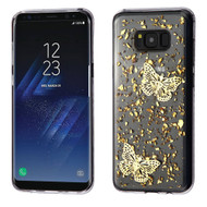 Krystal Gel Series Flakes Transparent TPU Case for Samsung Galaxy S8 - 3D Butterfly