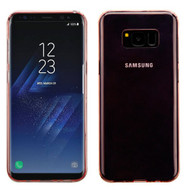 Rubberized Crystal Case for Samsung Galaxy S8 - Rose Gold