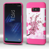 Military Grade Certified TUFF Trooper Dual Layer Hybrid Armor Case for Samsung Galaxy S8 - Spring Flowers
