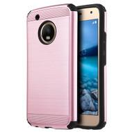 *Sale* Brushed Texture Armor Anti Shock Hybrid Case for Motorola Moto G5 Plus - Rose Gold