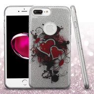 *Sale* Full Glitter Hybrid Protective Case for iPhone 7 Plus - Hearts