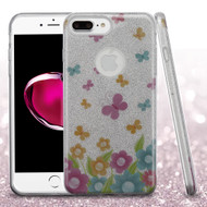 Full Glitter Hybrid Protective Case for iPhone 8 Plus / 7 Plus - Butterfly