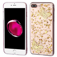 *Sale* Krystal Gel Series Flakes Transparent TPU Case for iPhone 7 Plus - 3D Butterfly