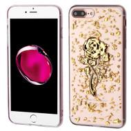 *Sale* Krystal Gel Series Flakes Transparent TPU Case for iPhone 7 Plus - 3D Rose