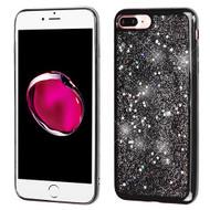 Luxury Bling Glitter Krystal Gel Case for iPhone 8 Plus / 7 Plus - Starry Sky Silver
