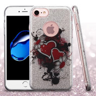 *Sale* Full Glitter Hybrid Protective Case for iPhone 7 - Hearts