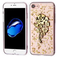 *Sale* Krystal Gel Series Flakes Transparent TPU Case for iPhone 7 - 3D Rose