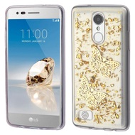 *SALE* Krystal Gel Series Flakes Transparent TPU Case for LG Aristo / Fortune / K8 (2017) / Phoenix 3 - 3D Butterfly
