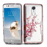 TUFF Panoview Transparent Hybrid Diamond Case for LG Aristo / Fortune / K8 2017 / Phoenix 3 - Spring Flowers