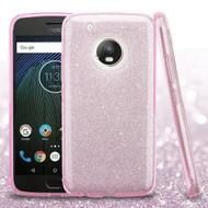 *Sale* Full Glitter Hybrid Protective Case for Motorola Moto G5 Plus - Pink