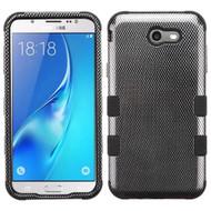 Military Grade Certified TUFF Image Hybrid Armor Case for Samsung Galaxy J7 (2017) / J7 V / J7 Perx - Carbon Fiber