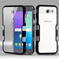 TUFF Panoview Hybrid Case for Samsung Galaxy J3 (2017) / J3 Emerge / J3 Prime / Amp Prime 2 / Sol 2 - Black