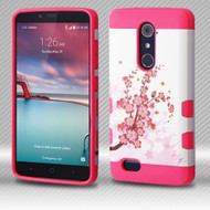 Military Grade TUFF Trooper Case for ZTE Zmax Pro / Grand X Max 2 / Imperial Max / Max Duo 4G - Spring Flowers