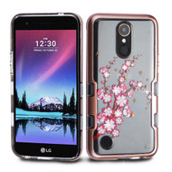 TUFF Panoview Transparent Hybrid Diamond Case for LG K20 Plus / K20 V / K10 (2017) / Harmony - Spring Flowers