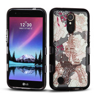 TUFF Panoview Transparent Hybrid Diamond Case for LG K20 Plus / K20 V / K10 (2017) / Harmony - Eiffel Tower