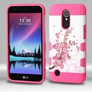 Military Grade Certified TUFF Trooper Hybrid Armor Case for LG K20 Plus / K20 V / K10 (2017) / Harmony - Spring Flowers